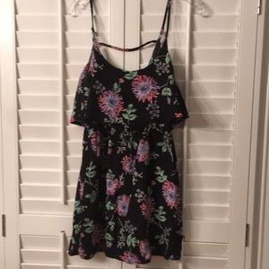 Mimi Chica Floral Navy Dress